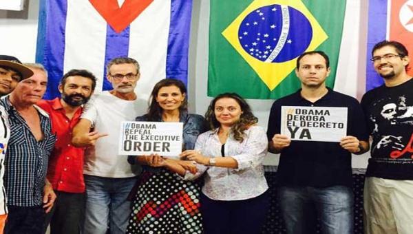 Ativistas de diversos setores manifestam sua solidariedade à Venezuela | Foto: @DRodriguezVen
