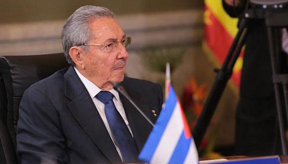 Raúl Castro en la Cumbre del ALBA-TCP en Caracas. Foto: Prensa Presidencial Miraflores