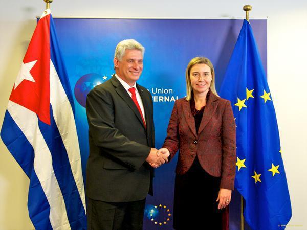 Díaz-Canel e Federica Mogherini