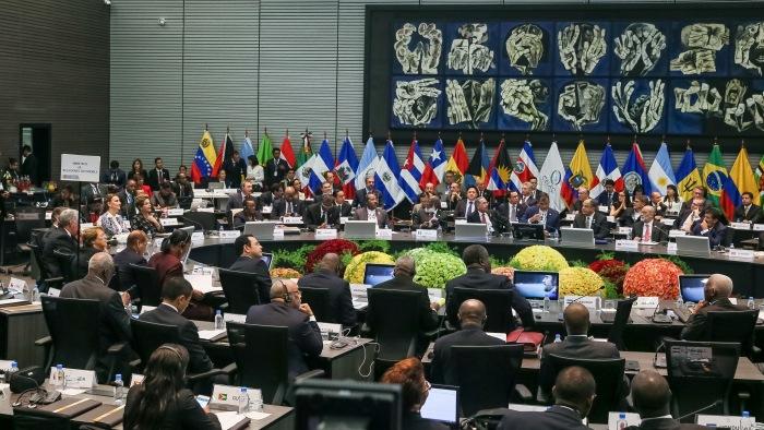 Chefes de Estado reunidos na IV Cúpula da CELAC